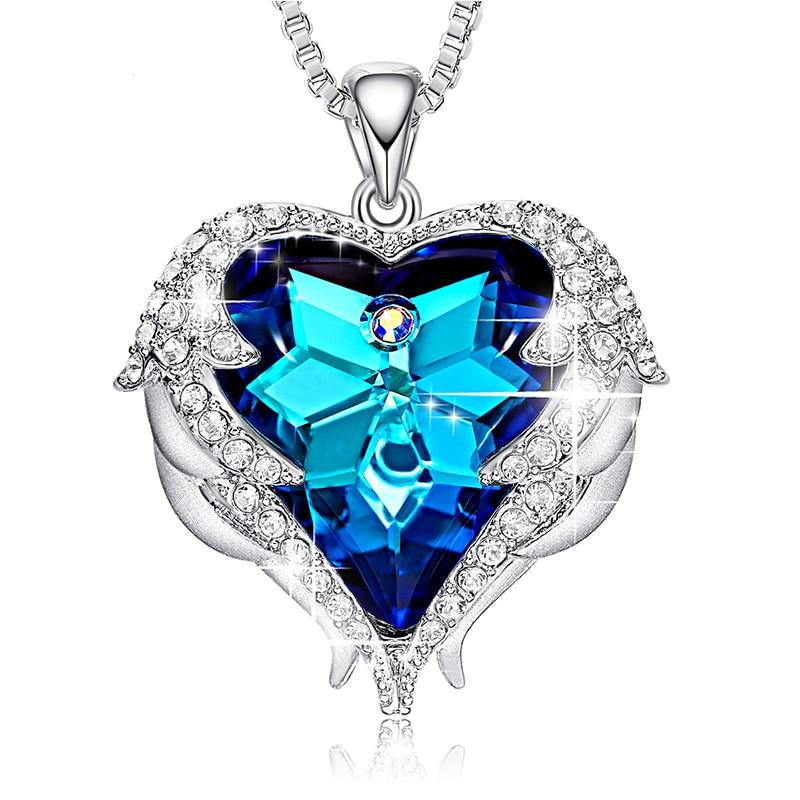 888ca05fa842e Women's Heart Shaped Crystal Pendant Necklace